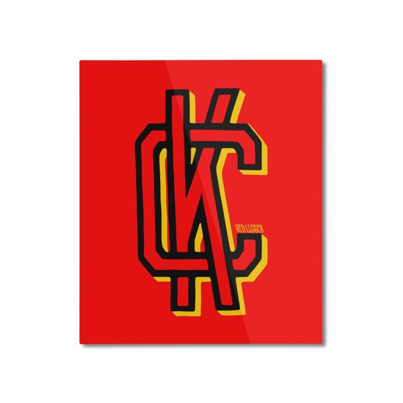 KC Logo Home Mounted Aluminum Print by redleggerstudio's Shop