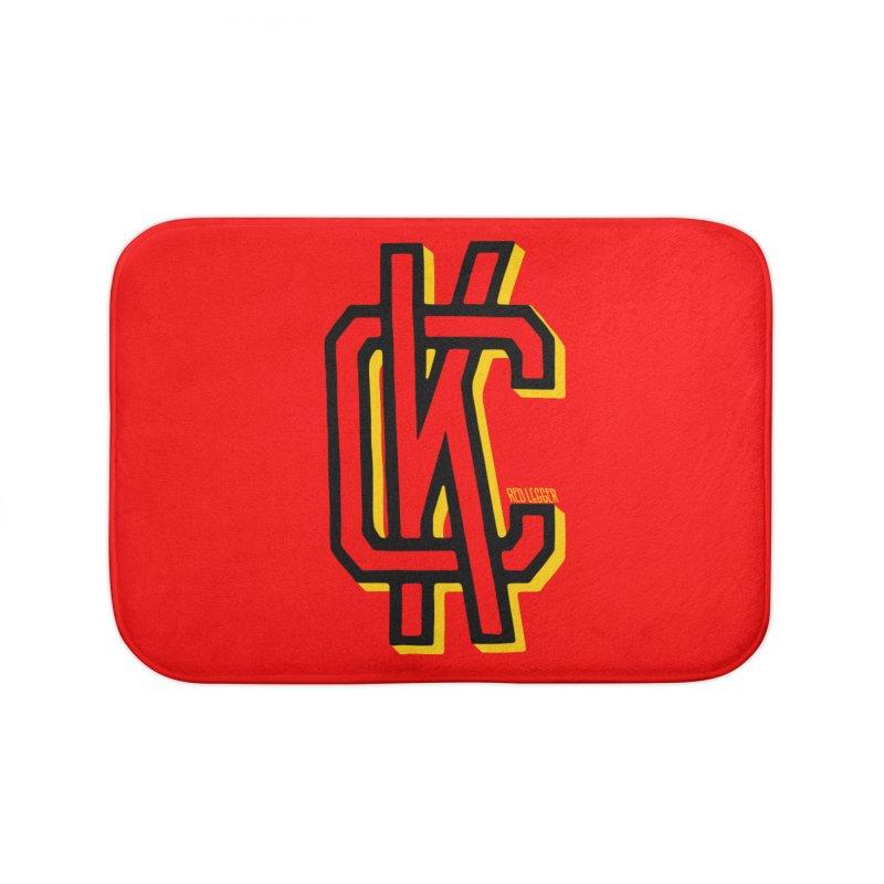 KC Logo Home Bath Mat by redleggerstudio's Shop