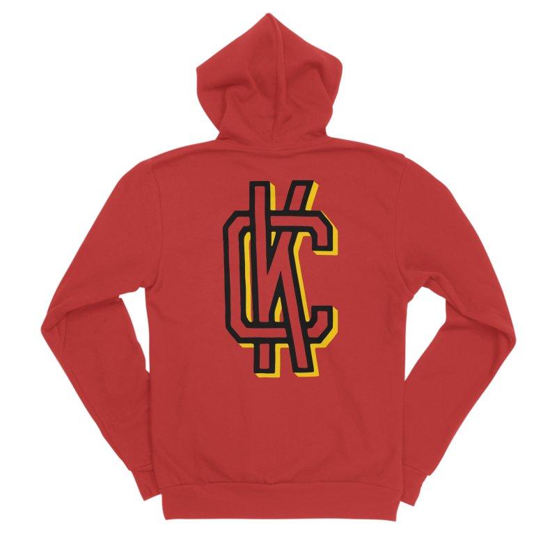 KC Logo Men's Sponge Fleece Zip-Up Hoody by redleggerstudio's Shop