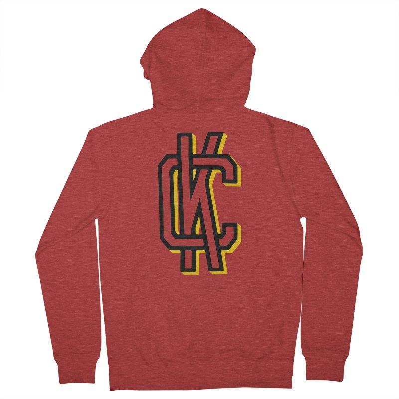 KC Logo Men's French Terry Zip-Up Hoody by redleggerstudio's Shop