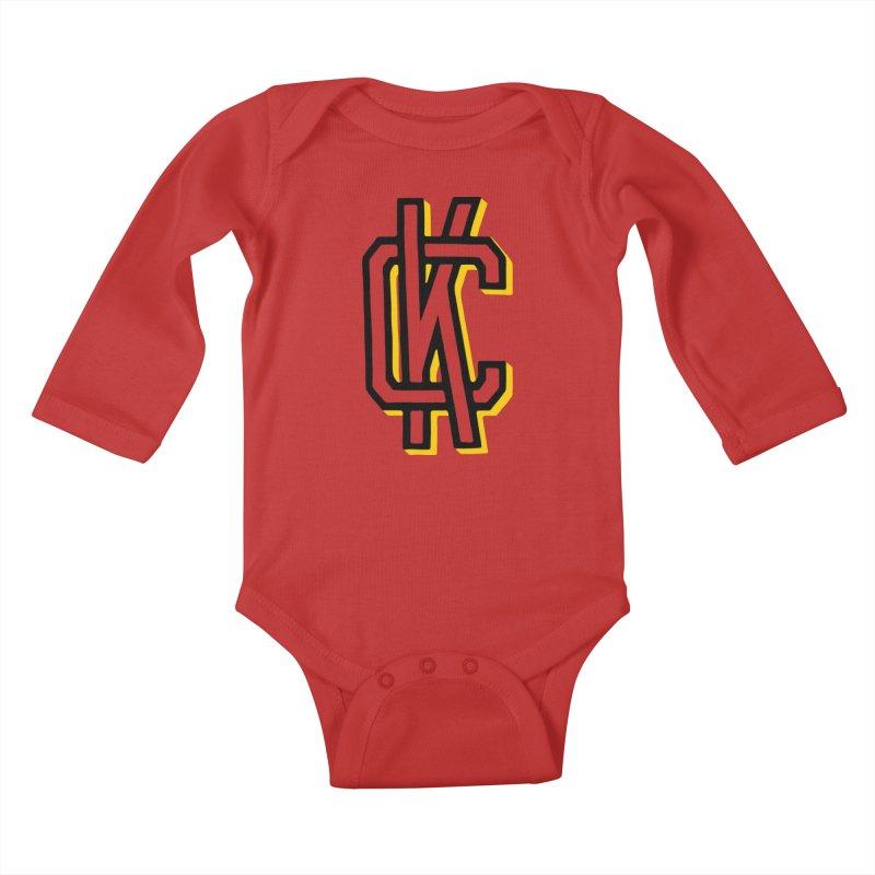 KC Logo Kids Baby Longsleeve Bodysuit by redleggerstudio's Shop