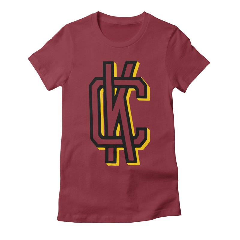 KC Logo Women's Fitted T-Shirt by redleggerstudio's Shop