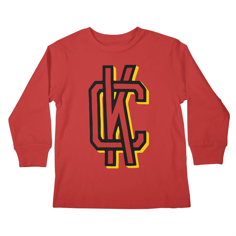 KC Logo Kids Longsleeve T-Shirt by redleggerstudio's Shop