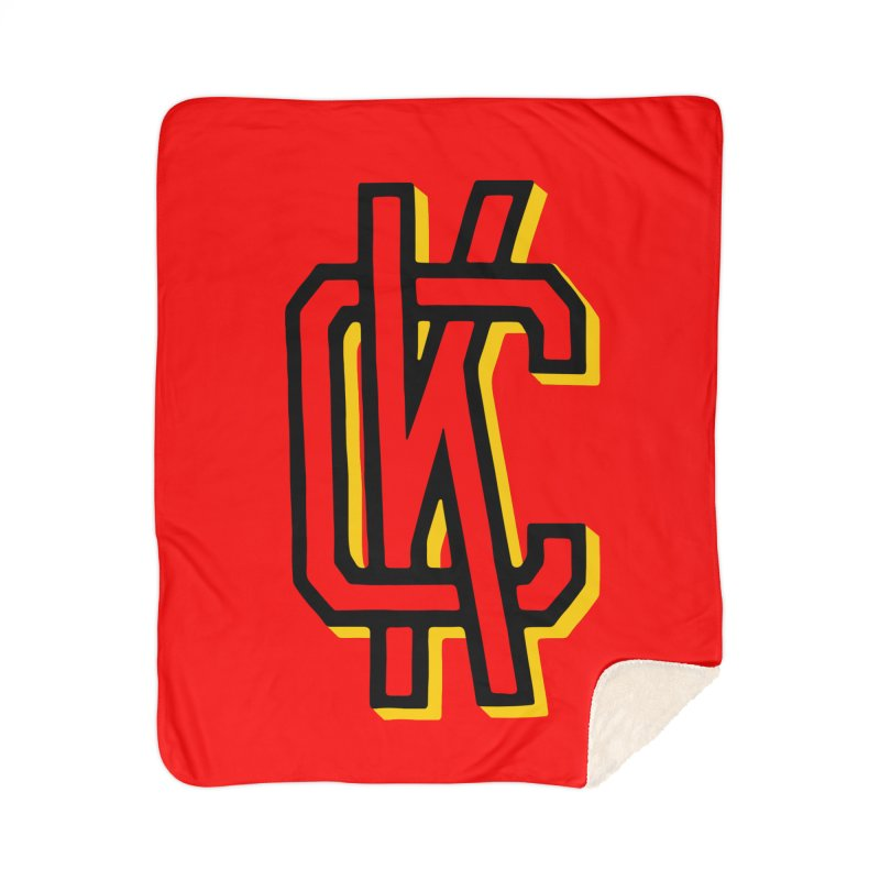 KC Logo Home Sherpa Blanket Blanket by redleggerstudio's Shop