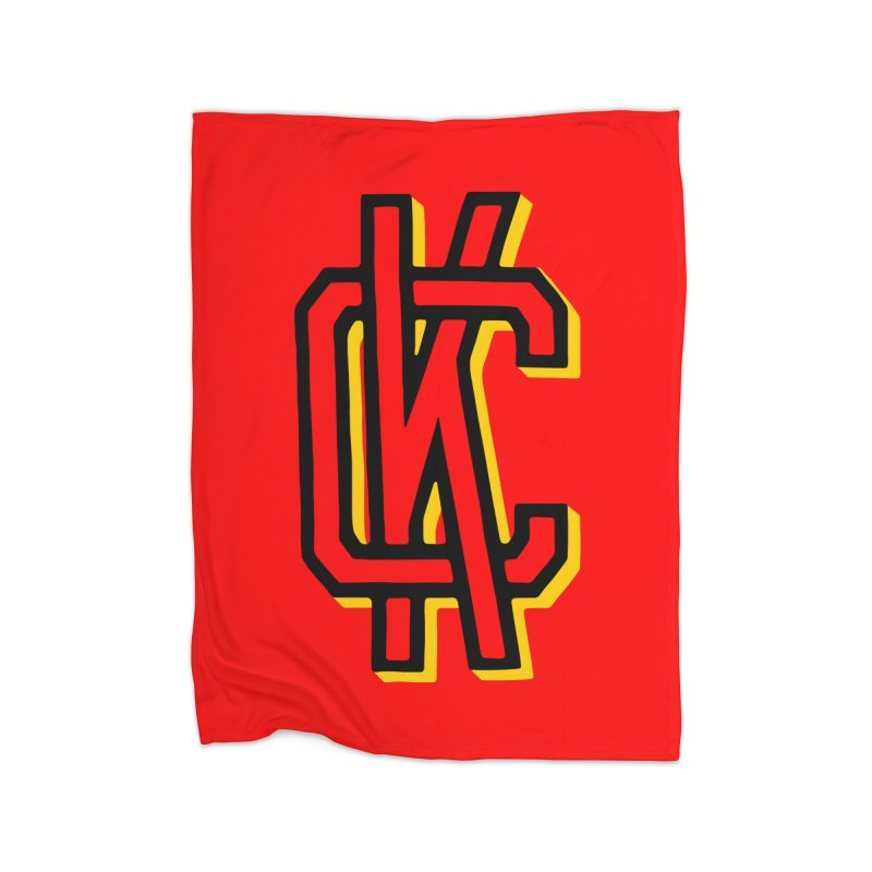 KC Logo Home Fleece Blanket Blanket by redleggerstudio's Shop