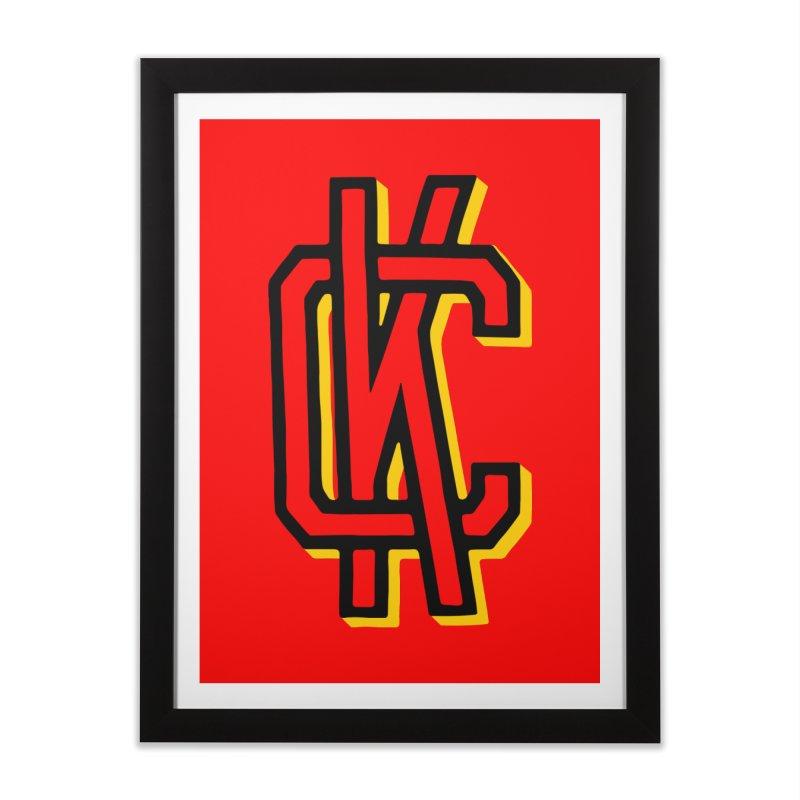KC Logo Home Framed Fine Art Print by redleggerstudio's Shop
