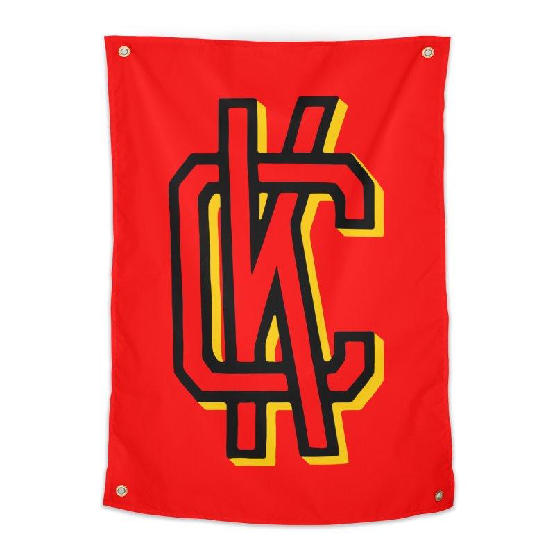 KC Logo Home Tapestry by redleggerstudio's Shop