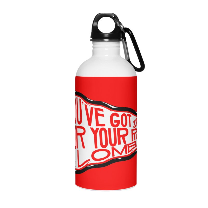 You've Got to Fight For Your Right to Lombardi Accessories Water Bottle by redleggerstudio's Shop