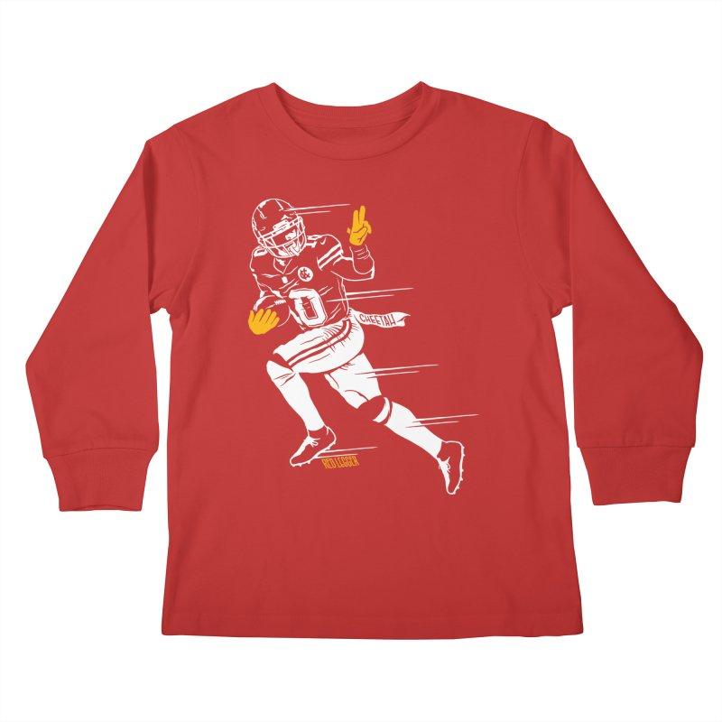 Cheetah Kids Longsleeve T-Shirt by redleggerstudio's Shop