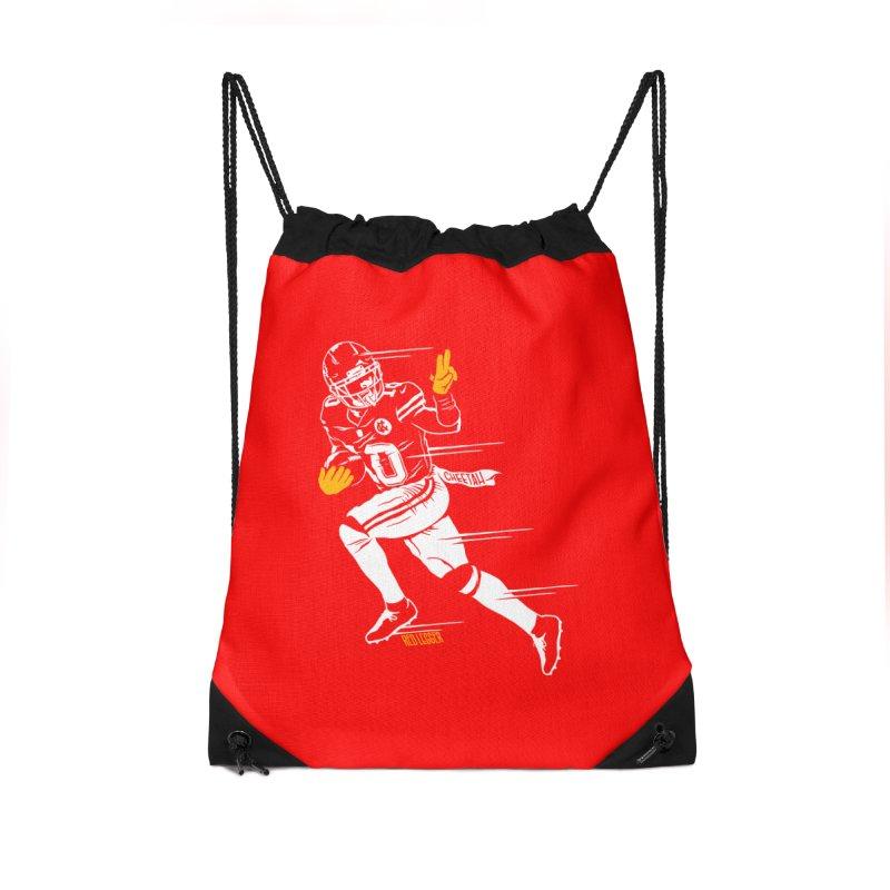 Cheetah Accessories Drawstring Bag Bag by redleggerstudio's Shop