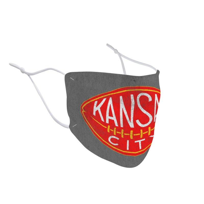 Kansas City Football Accessories Face Mask by redleggerstudio's Shop