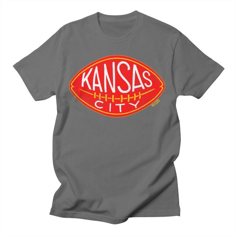 Kansas City Football Men's T-Shirt by redleggerstudio's Shop