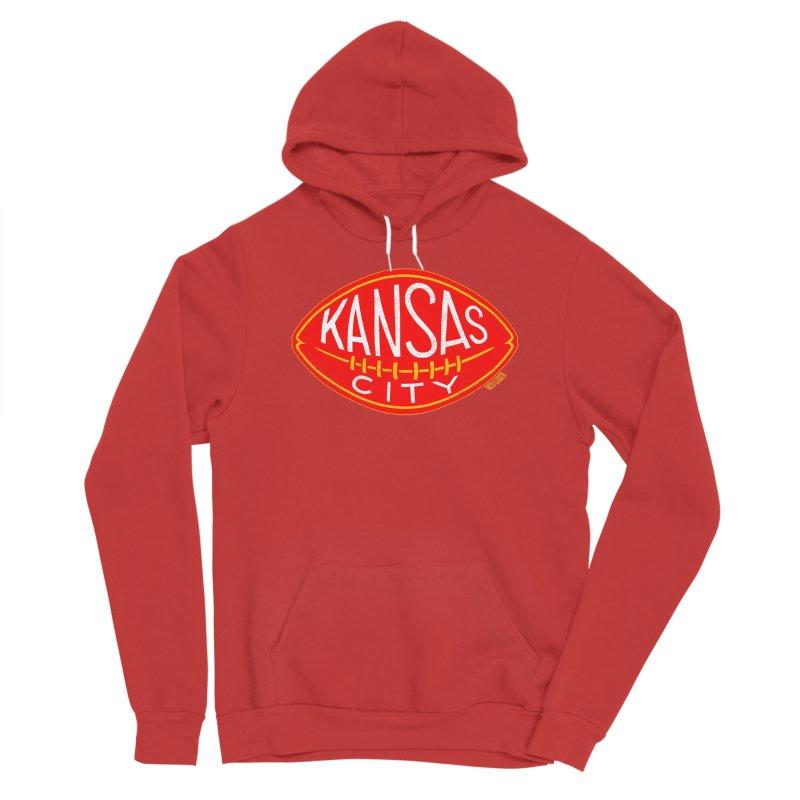 Kansas City Football Men's Pullover Hoody by redleggerstudio's Shop