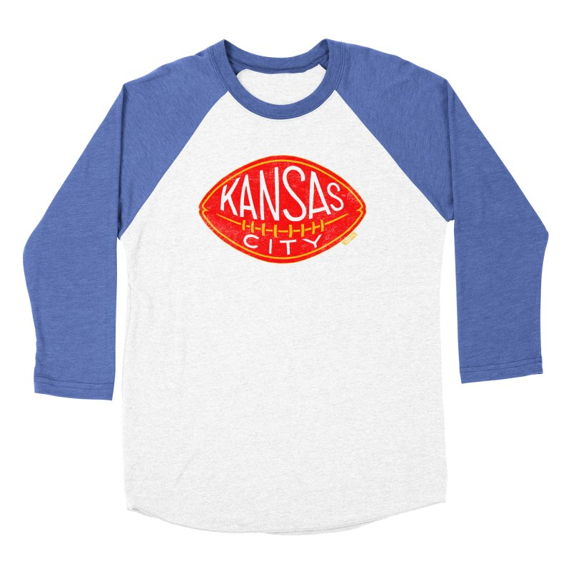 Kansas City Football Women's Baseball Triblend Longsleeve T-Shirt by redleggerstudio's Shop