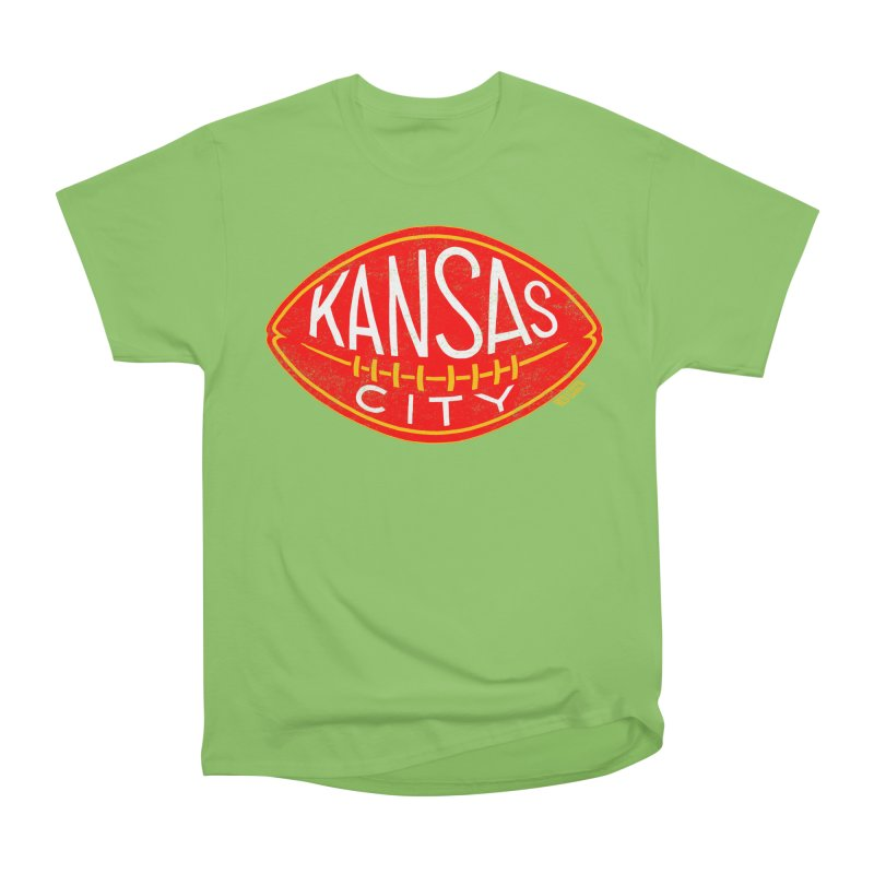 Kansas City Football Men's Heavyweight T-Shirt by redleggerstudio's Shop