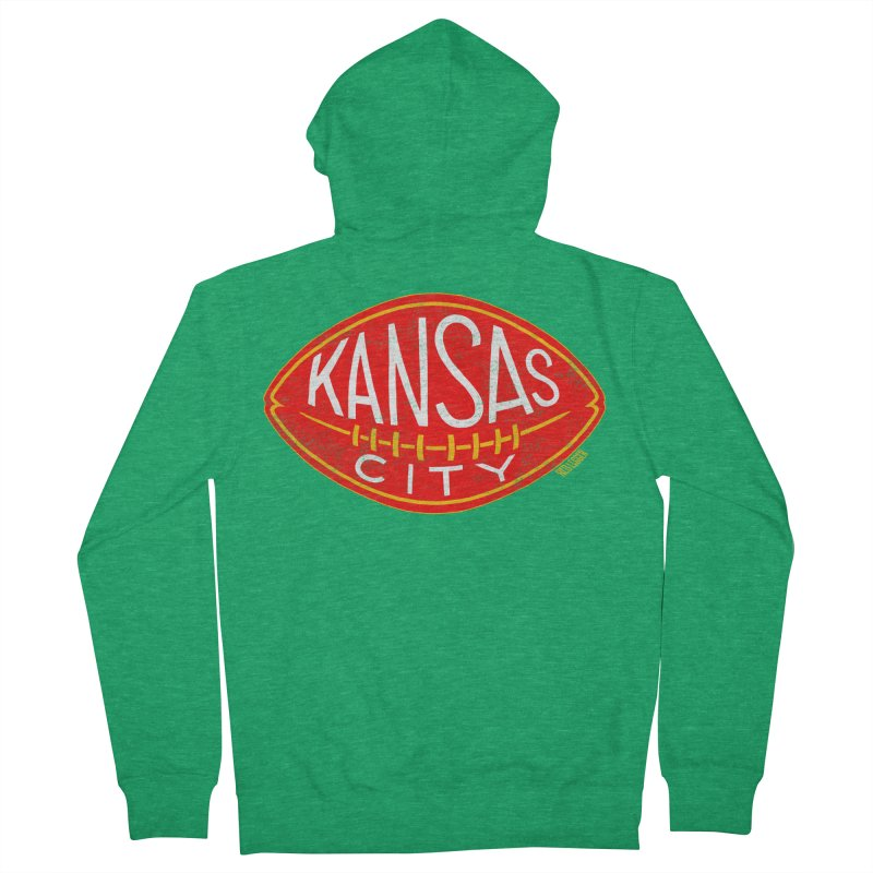 Kansas City Football Men's Zip-Up Hoody by redleggerstudio's Shop