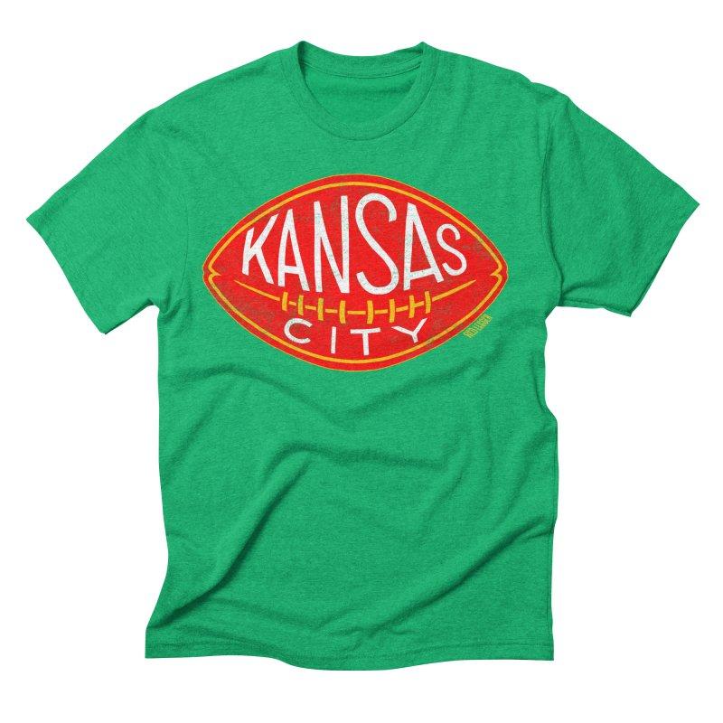 Kansas City Football Men's Triblend T-Shirt by redleggerstudio's Shop