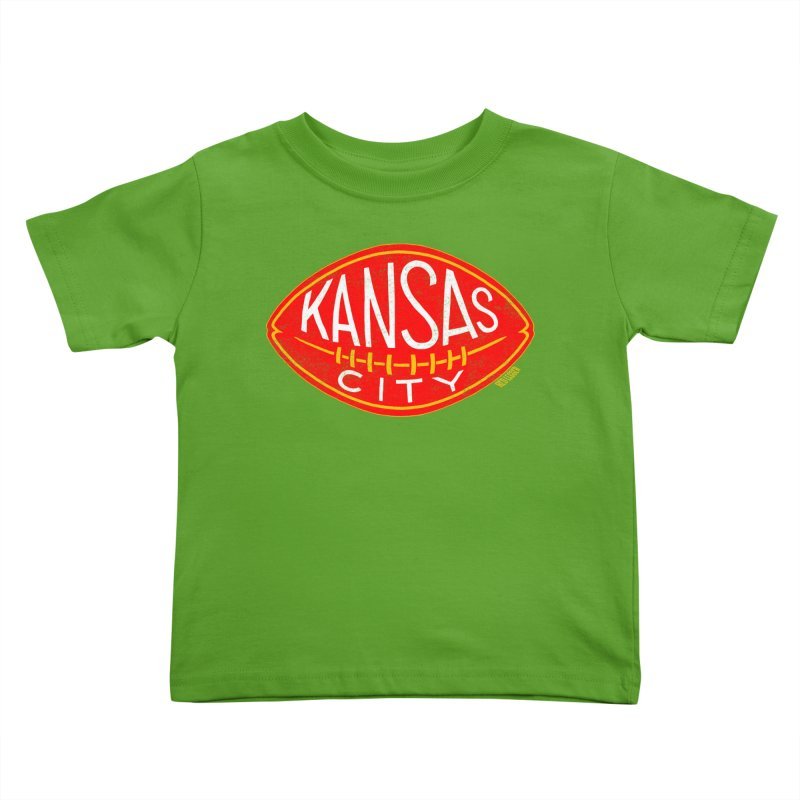 Kansas City Football Kids Toddler T-Shirt by redleggerstudio's Shop