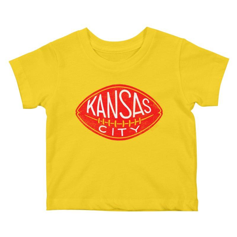 Kansas City Football Kids Baby T-Shirt by redleggerstudio's Shop