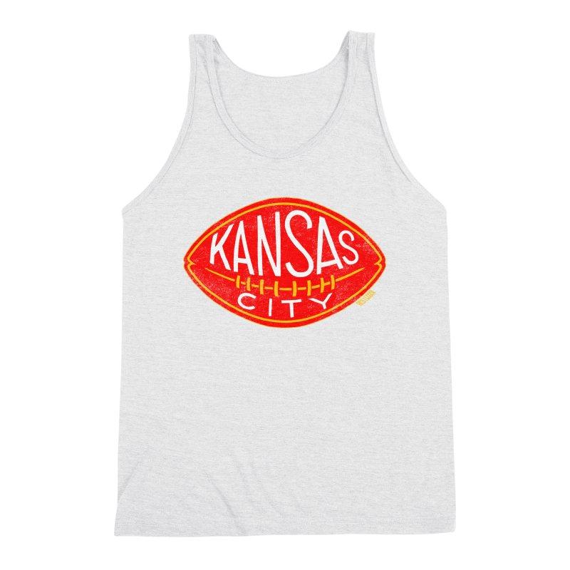 Kansas City Football Men's Triblend Tank by redleggerstudio's Shop