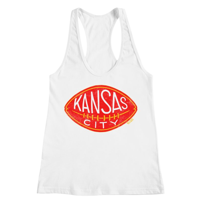 Kansas City Football Women's Racerback Tank by redleggerstudio's Shop