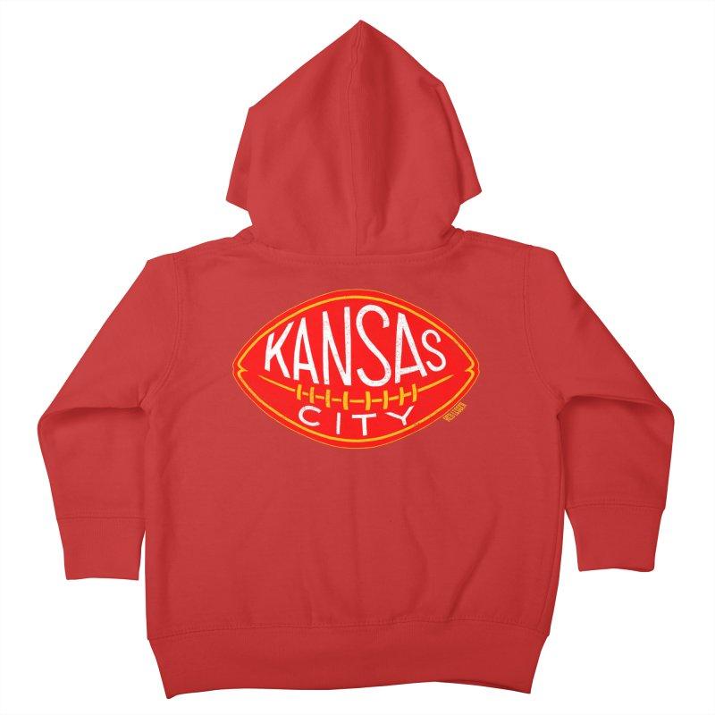 Kansas City Football Kids Toddler Zip-Up Hoody by redleggerstudio's Shop