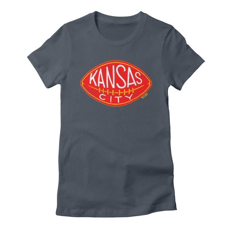 Kansas City Football Women's T-Shirt by redleggerstudio's Shop