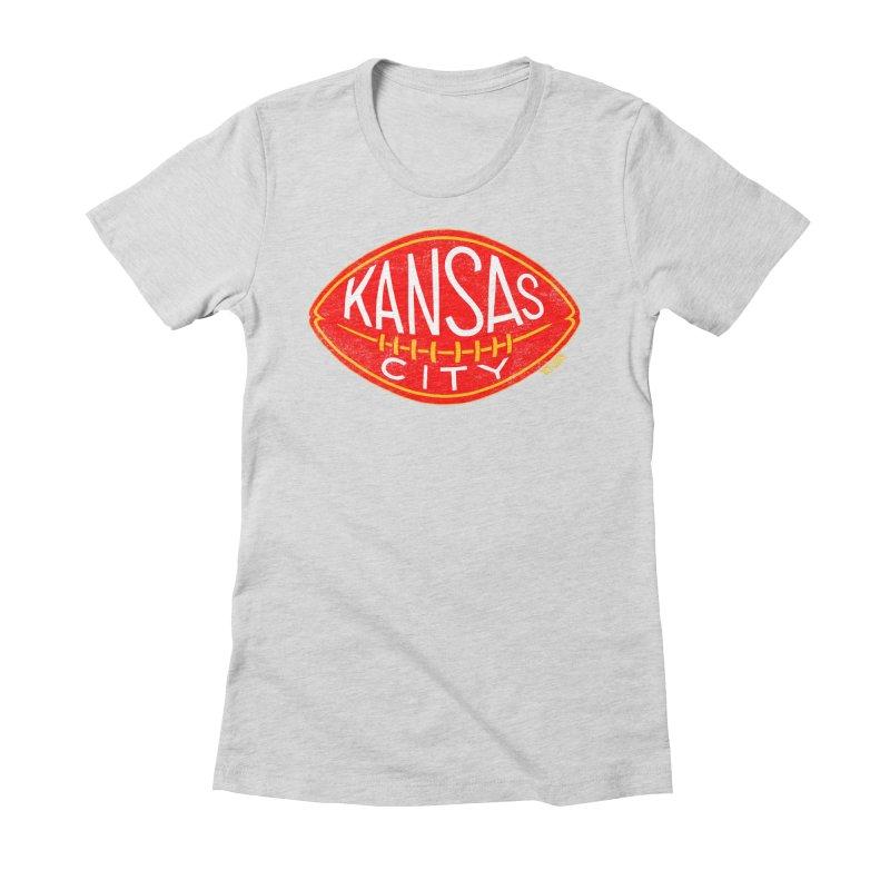 Kansas City Football Women's Fitted T-Shirt by redleggerstudio's Shop