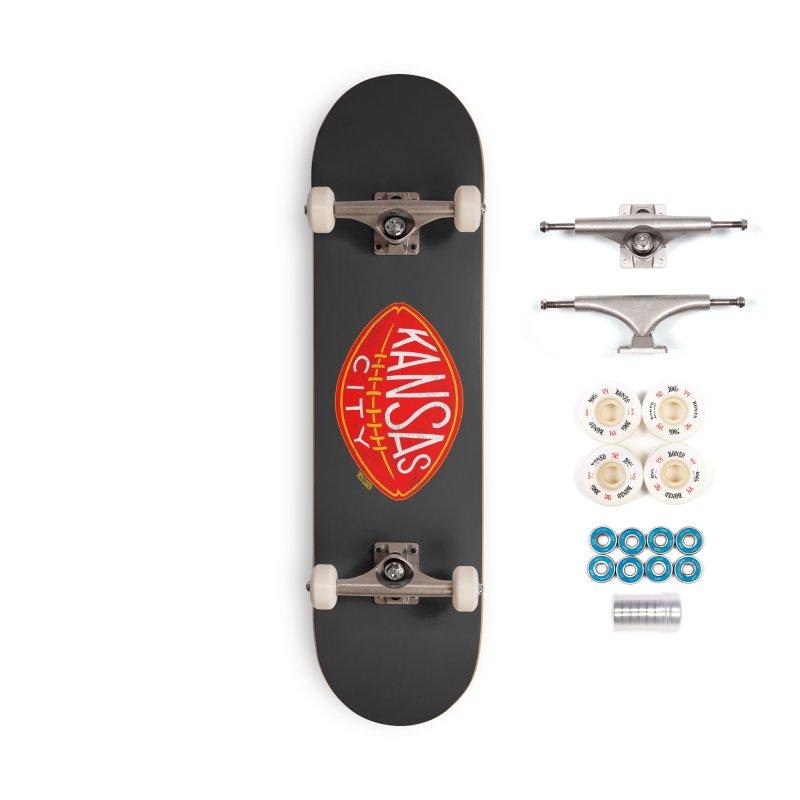 Kansas City Football Accessories Complete - Premium Skateboard by redleggerstudio's Shop