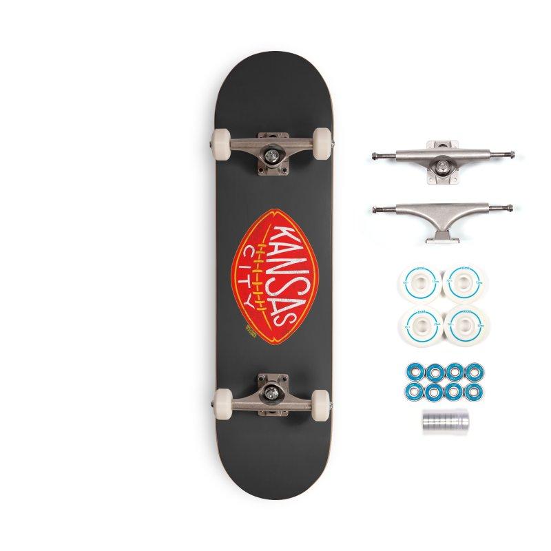 Kansas City Football Accessories Skateboard by redleggerstudio's Shop