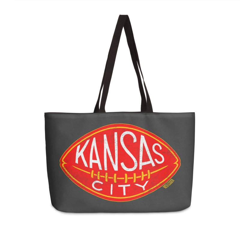 Kansas City Football Accessories Weekender Bag Bag by redleggerstudio's Shop
