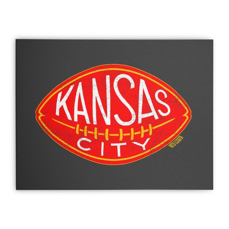 Kansas City Football Home Stretched Canvas by redleggerstudio's Shop