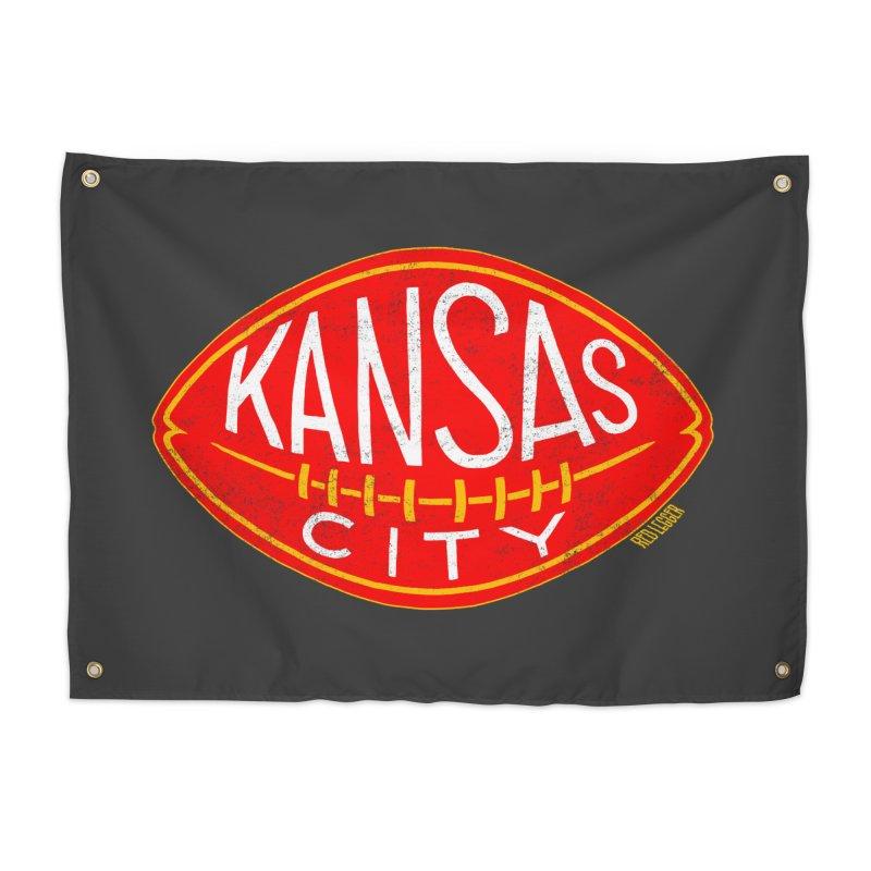 Kansas City Football Home Tapestry by redleggerstudio's Shop