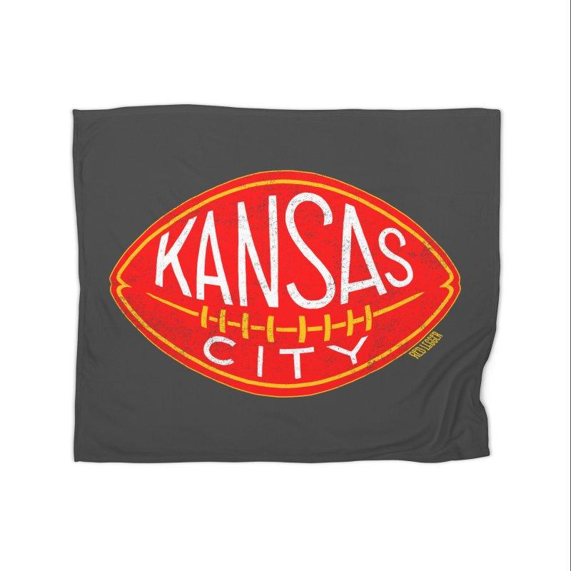 Kansas City Football Home Fleece Blanket Blanket by redleggerstudio's Shop