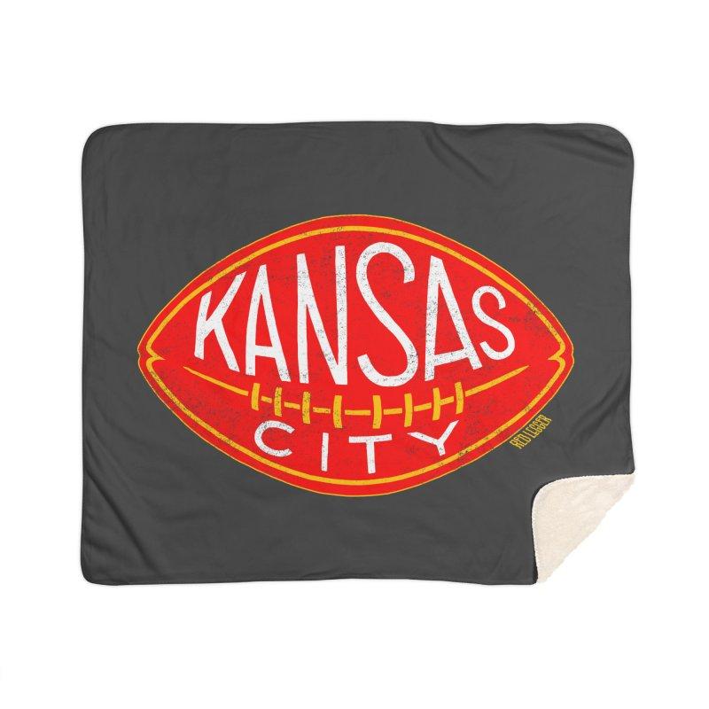 Kansas City Football Home Blanket by redleggerstudio's Shop