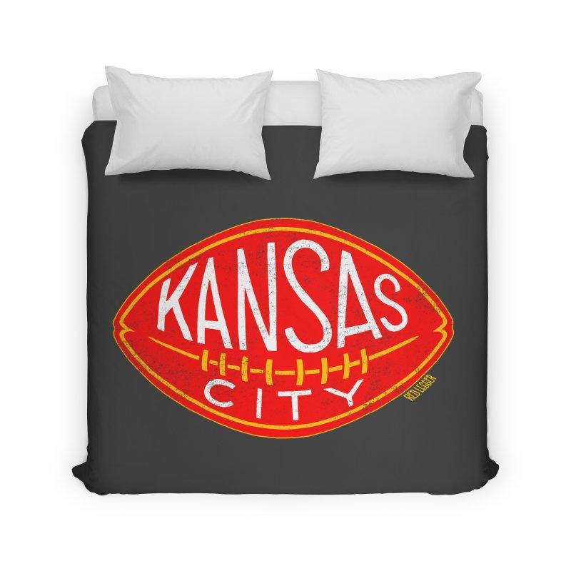 Kansas City Football Home Duvet by redleggerstudio's Shop