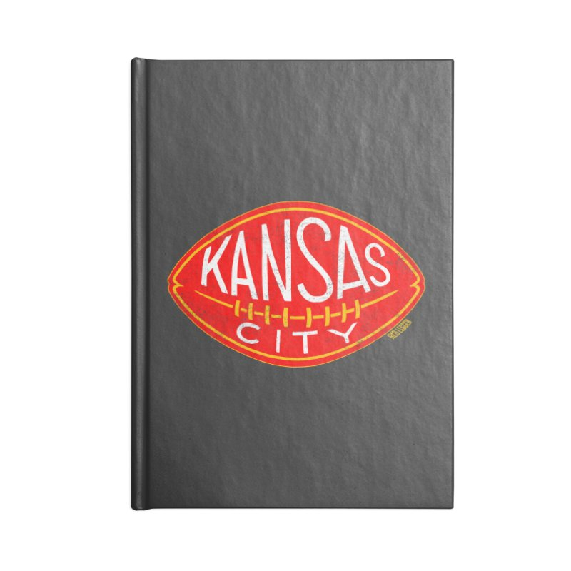 Kansas City Football Accessories Notebook by redleggerstudio's Shop