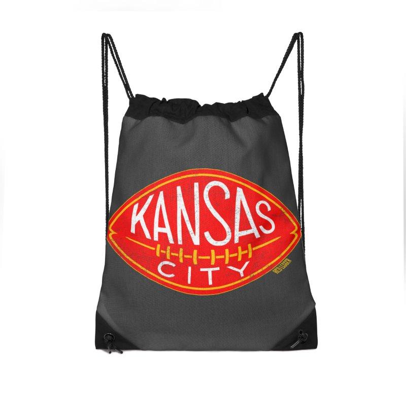 Kansas City Football Accessories Bag by redleggerstudio's Shop
