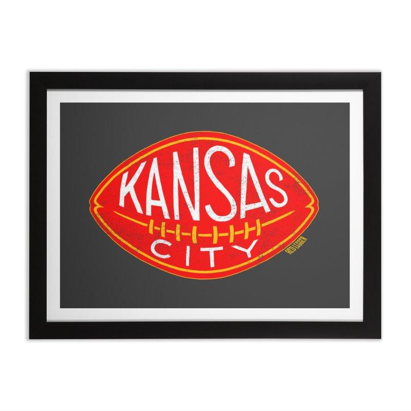 Kansas City Football Home Framed Fine Art Print by redleggerstudio's Shop