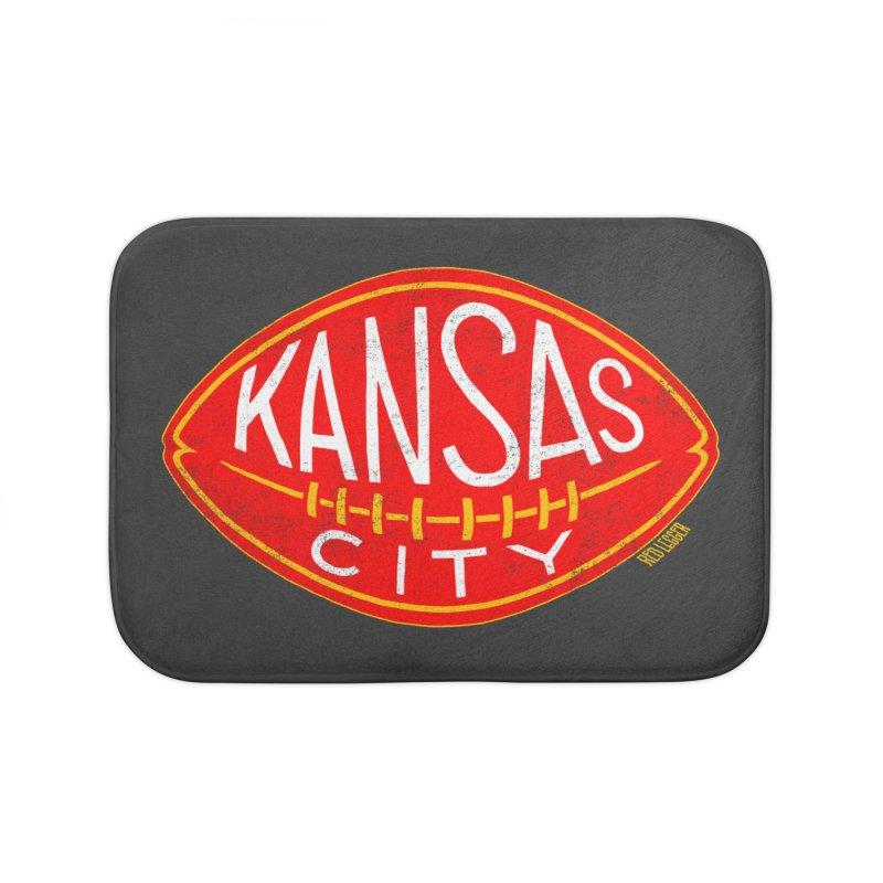 Kansas City Football Home Bath Mat by redleggerstudio's Shop