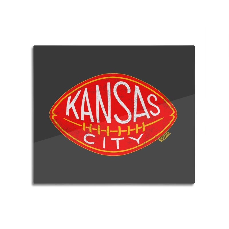 Kansas City Football Home Mounted Aluminum Print by redleggerstudio's Shop
