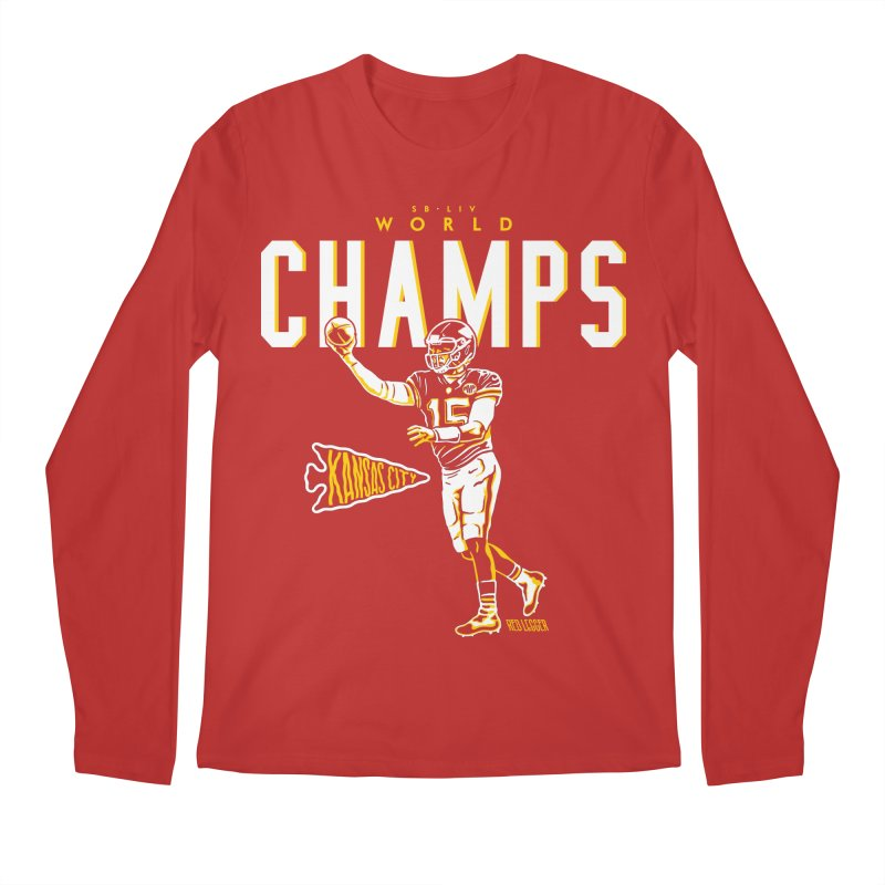 Champs Men's Longsleeve T-Shirt by redleggerstudio's Shop