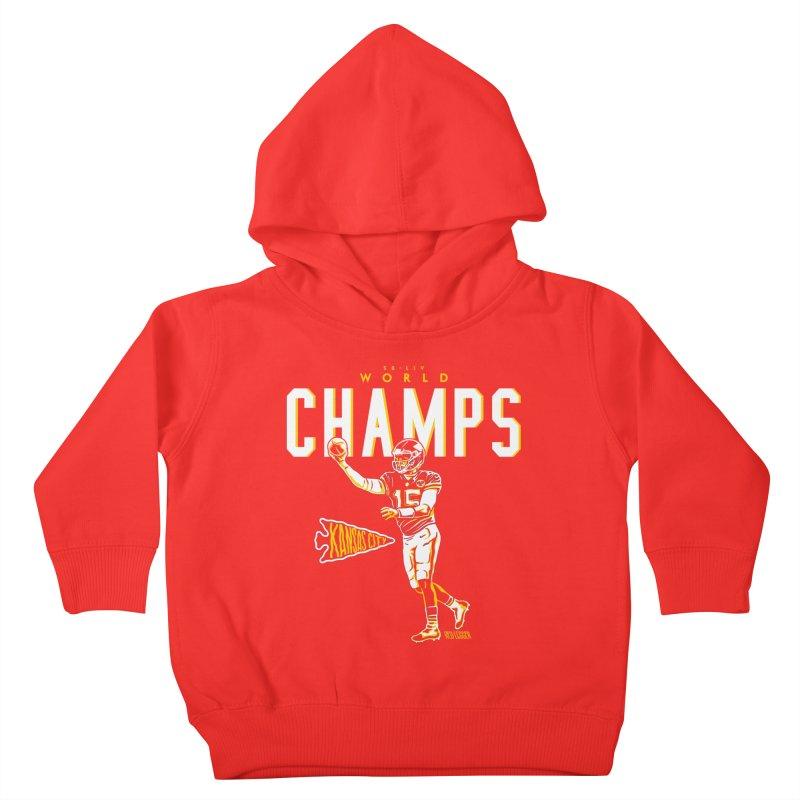 Champs Kids Toddler Pullover Hoody by redleggerstudio's Shop