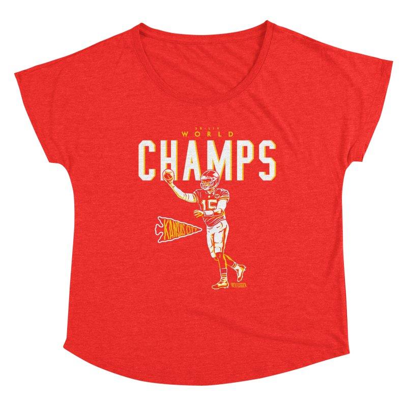 Champs Women's Scoop Neck by redleggerstudio's Shop