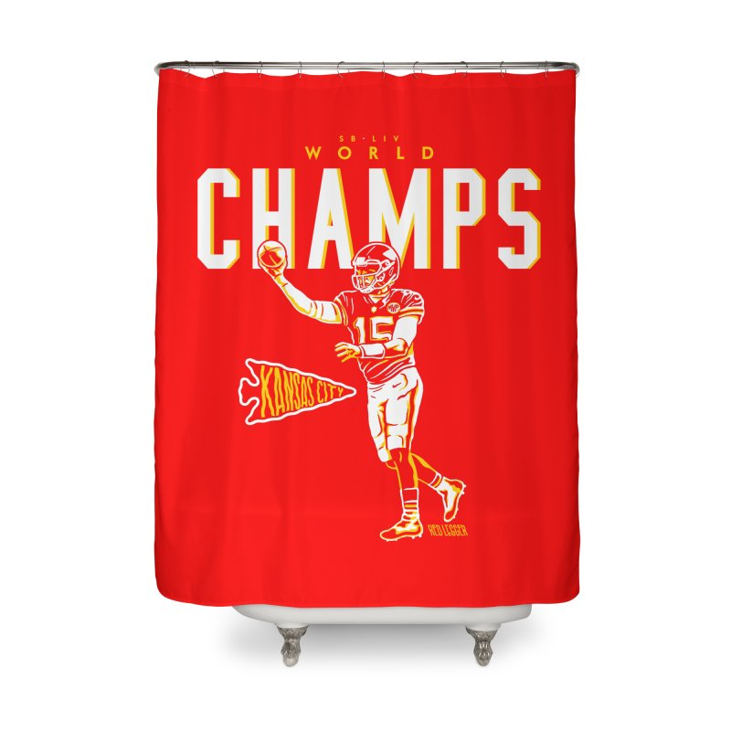 Champs Home Shower Curtain by redleggerstudio's Shop