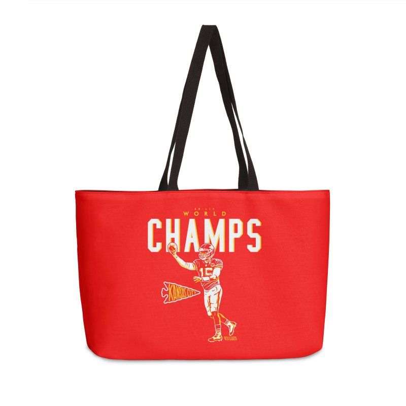 Champs Accessories Weekender Bag Bag by redleggerstudio's Shop
