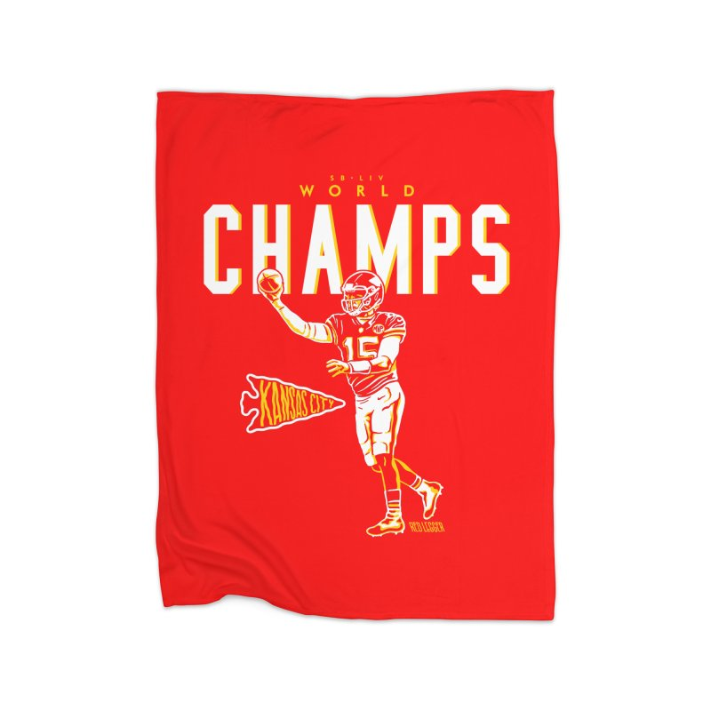 Champs Home Fleece Blanket Blanket by redleggerstudio's Shop