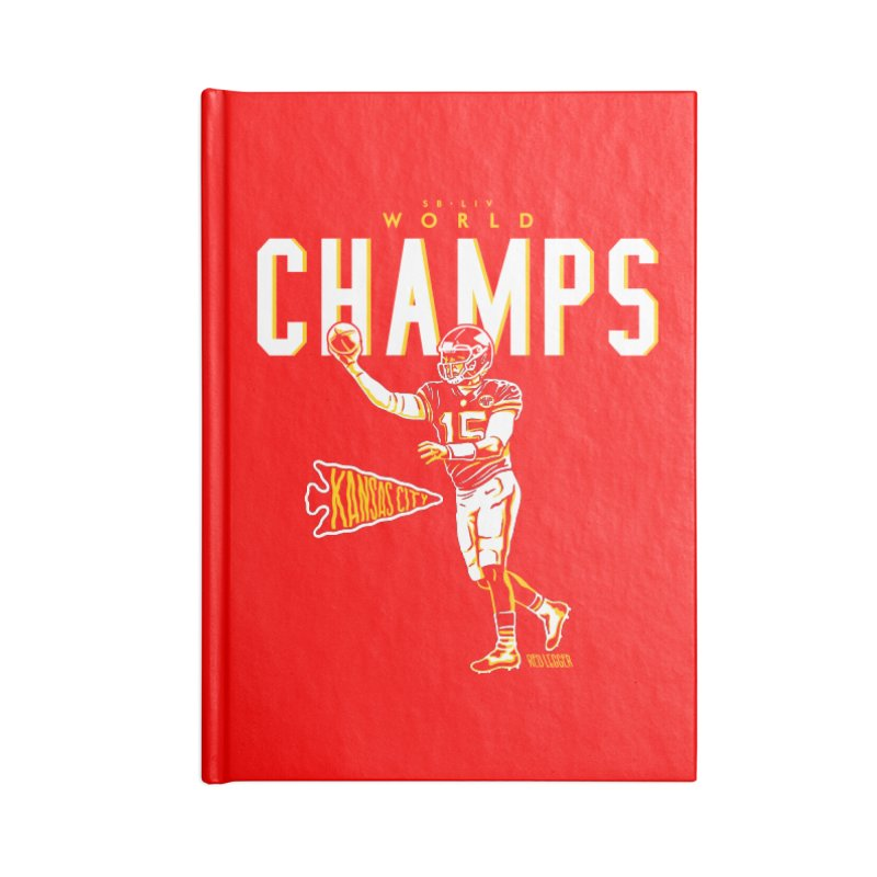 Champs Accessories Notebook by redleggerstudio's Shop