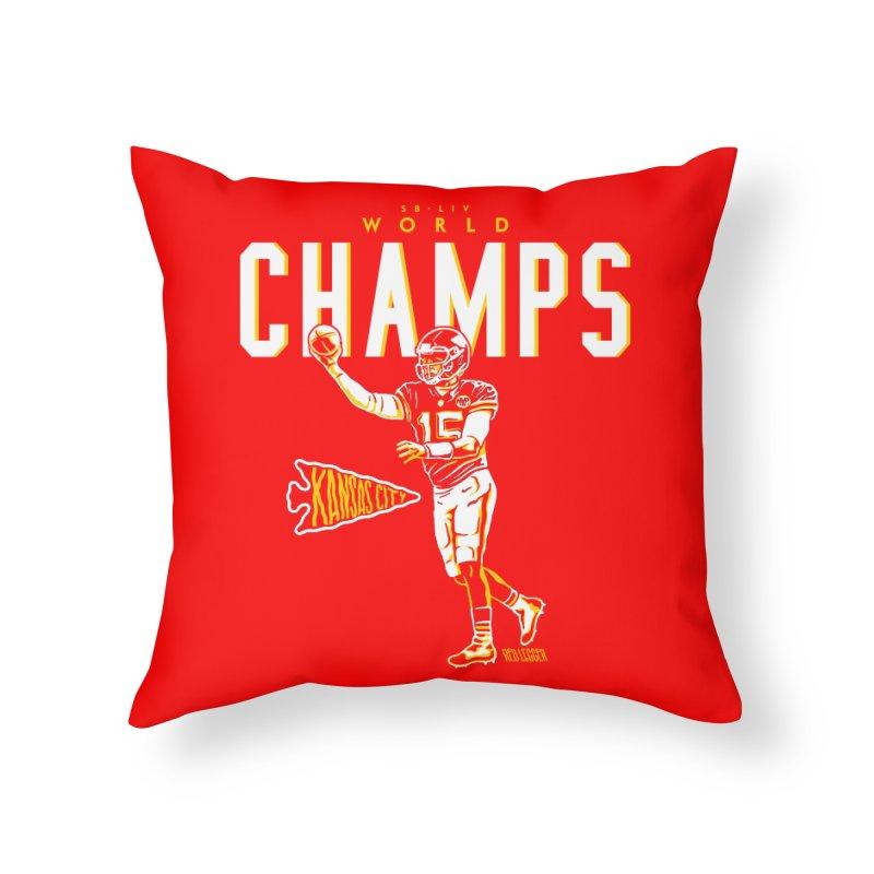 Champs Home Throw Pillow by redleggerstudio's Shop
