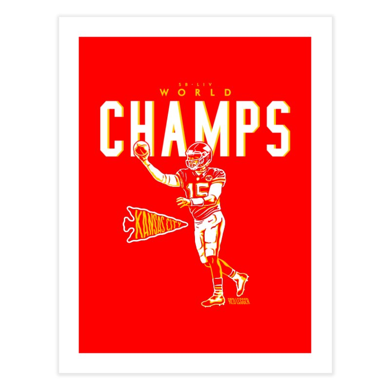 Champs Home Fine Art Print by redleggerstudio's Shop